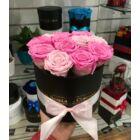 Örök rózsa kis henger dobozban