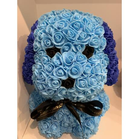 The Roseland Company nagy kék Virág kutya