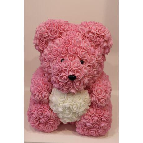 The Roseland Company nagy rózsaszín Virágmaci szívvel