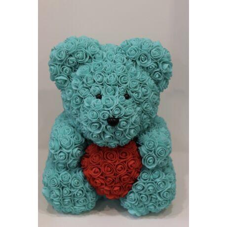 The Roseland Company nagy kék Virágmaci szívvel