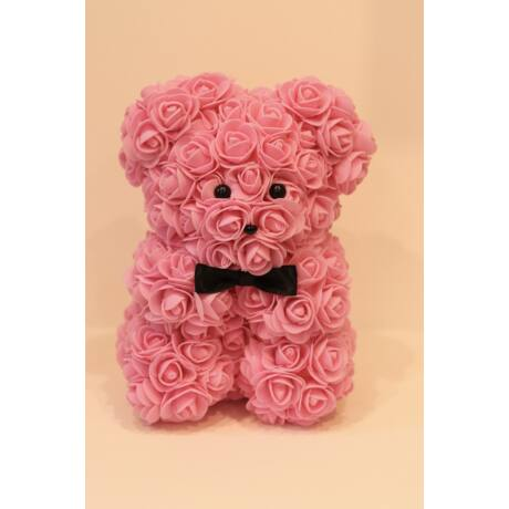 The Roseland Company rózsaszín Virágmaci masnival
