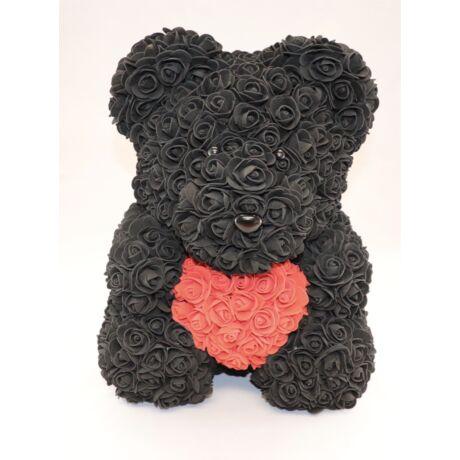 The Roseland Company nagy fekete Virágmaci szívvel