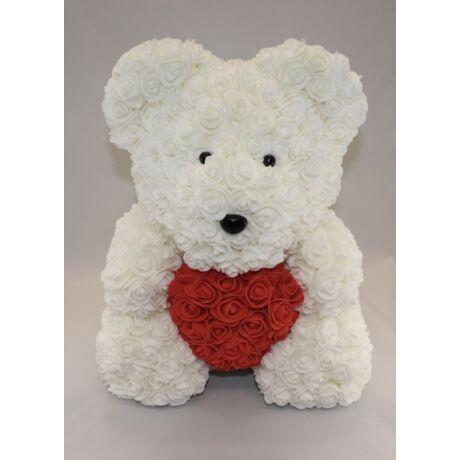 The Roseland Company nagy fehér Virágmaci szívvel