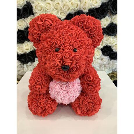 The Roseland Company nagy piros Virágmaci rózsaszín szívvel